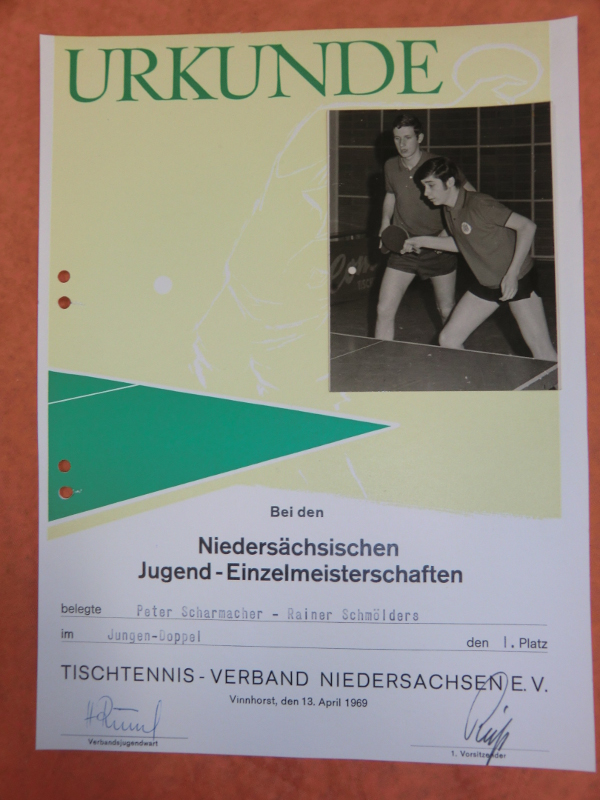 Niedersächsische Jugend-Einzelmeisterschaften 1969